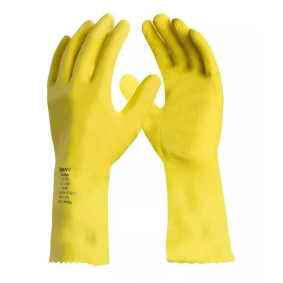Luva de Látex Maxi Látex Amarela DA300 Danny 1