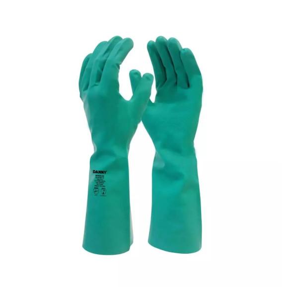 Luva Nitrílica Nitrisilver Verde sem Forro DA36400 Danny 1