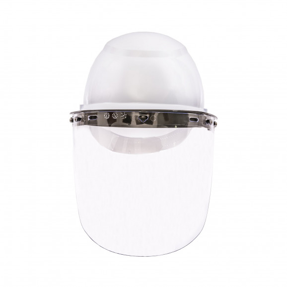 Protetor Facial Incolor com Capacete Branco - Camper 1