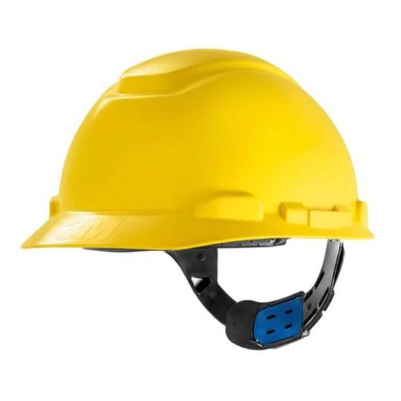 Capacete Classe A e B Amarelo com Ajuste Fácil 3M 1
