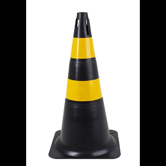 Cone Preto e Amarelo 70 cm Delta Plus 1