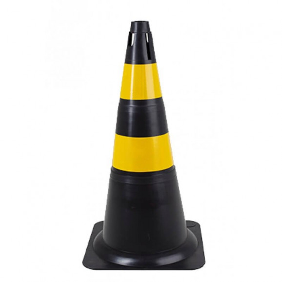 Cone Refletivo Preto e Amarelo 70 cm Delta Plus 1