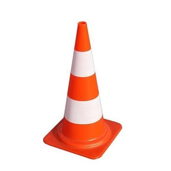 Cone Laranja e Branco 50 cm Delta Plus 1