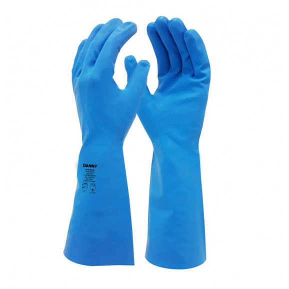 Luva Nitrílica Nitrisilver Azul sem Forro DA36400 Danny 1