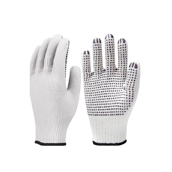 Luva de Algodão Tricotada Pigmentada Branca Super Safety 1