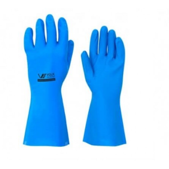 Luva Nitrilica Sem Forro Azul - Volk 1