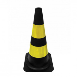 Cone Refletivo Preto e Amarelo 50 cm Delta Plus 1