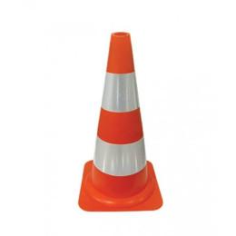 Cone Refletivo Laranja e Branco 50 cm Delta Plus 1