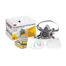 Máscara Semifacial 6200 com Cartucho para Gases Ácidos e Vapores Orgânicos 6003 - 3M | CA - 4115