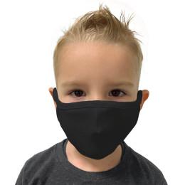 Máscara de Tecido Reutilizável e Lavável Preta Infantil - Protector 1