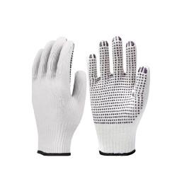 Luva de Algodão Tricotada Pigmentada Branca - Super Safety (12 Unidades)