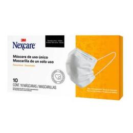 Máscara de TNT Tripla Descartável com Elástico Nexcare - 3M (10 Unidades)