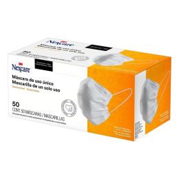 Máscara de TNT Tripla Descartável com Elástico Nexcare - 3M (50 Unidades)