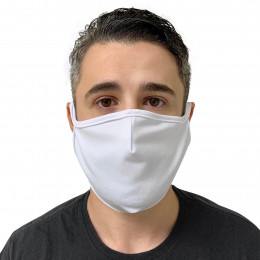 Máscara de Tecido Reutilizável e Lavável Branca - Protector  1