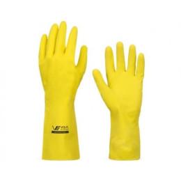 Luva Multiuso Slim Amarela - Volk (12 Pares)