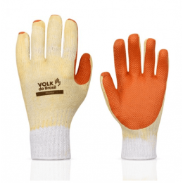 Luva Emborrachada Orange - Volk (12 Pares)