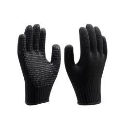 Luva de Algodão Tricotada Pigmentada Preta - Super Safety (12 Unidades)