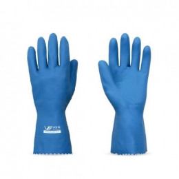 Luva de Látex Natural Verniz Silver Slim Azul - Volk (12 Unidades)