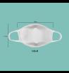 Máscara de Tecido Reutilizável e Lavável Branca Infantil - Protector 2