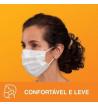 Máscara de TNT Tripla Descartável com Elástico Nexcare 3m